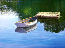 A Little Dinghy. Click here to see enlargement. © Ruth Mayer Fine Art.