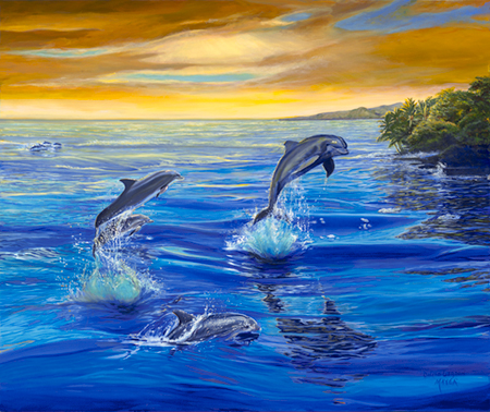 Dolphin Lagoon. Click here to see enlargement. © Ruth Mayer Fine Art.