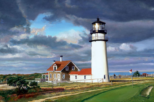 Highland Lighthouse. Click here to see enlargement. © Ruth Mayer Fine Art.
