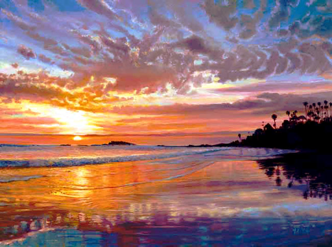 Laguna Sunset. Click here to see enlargement. © Ruth Mayer Fine Art.