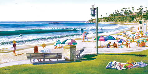 Main Beach. Click here to see enlargement. © Ruth Mayer Fine Art.