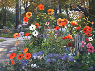 Poppy Lane. Click here to see enlargement. © Ruth Mayer Fine Art.