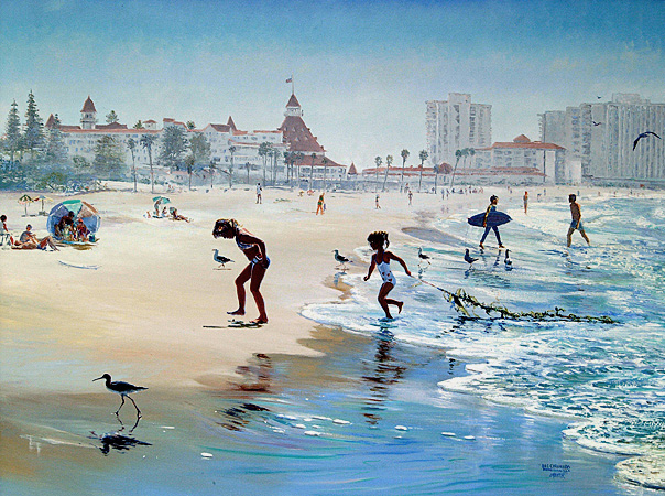 Sunday Morning At The Del Coronado. Click here to see enlargement. © Ruth Mayer Fine Art.
