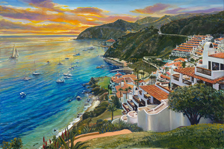 Sunlit Cove. Click here to see enlargement. © Ruth Mayer Fine Art.