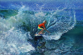 Surfer Dude. Click here to see enlargement. © Ruth Mayer Fine Art.