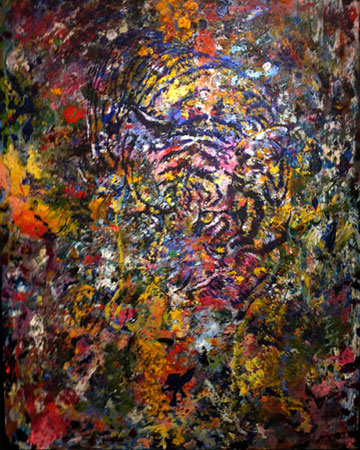 Tiger. Click here to see enlargement. © Ruth Mayer Fine Art.