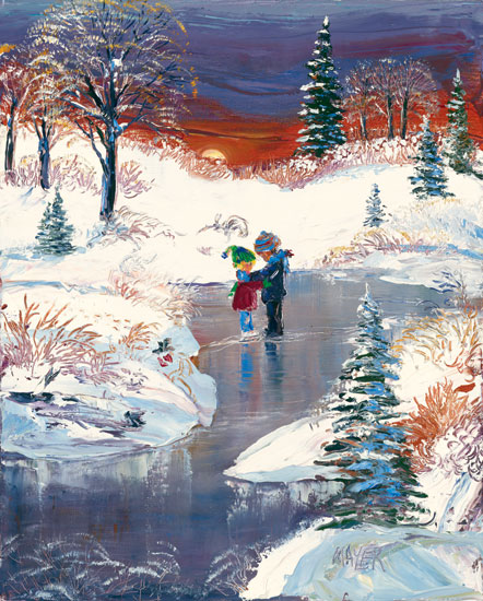 Young Winter Love. Click here to see enlargement. © Ruth Mayer Fine Art.