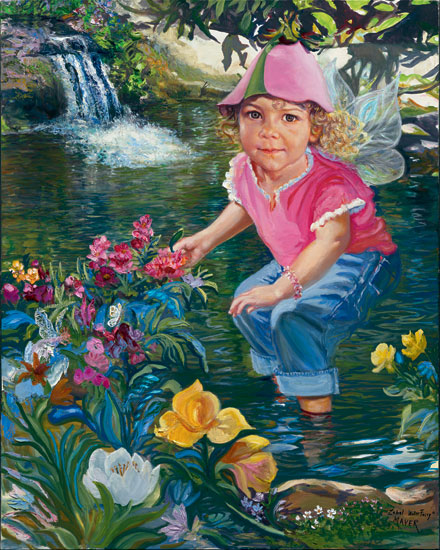 Zabel Water Fairy. Click here to see enlargement. © Ruth Mayer Fine Art.